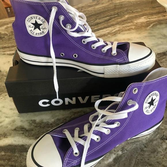 Converse Purple Tennis Shoes